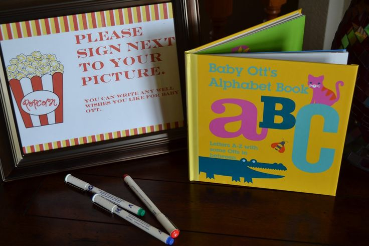 Shutterfly ABC photo book for baby showers.