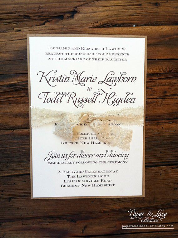 68 best wedding invitations images on pinterest invitation ideas lace invitation stopboris Gallery