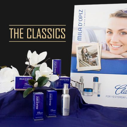 Mila d'Opiz Classics - cosmetic care products with guaranteed quality and results and which truly serve the consumer's needs. These beauty elixirs will make your skin look more youthful, vital & fresh.