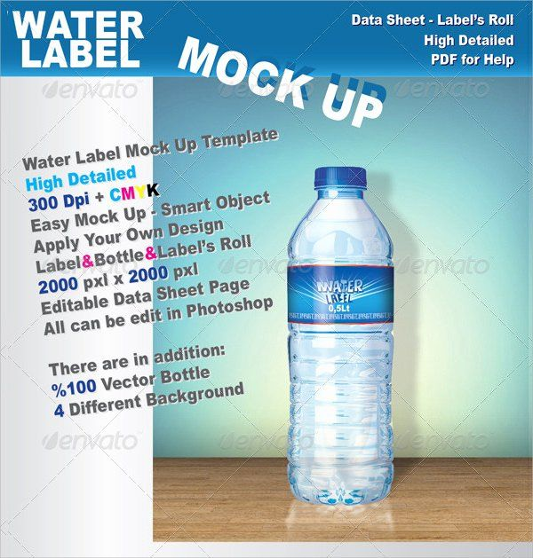 Labels For Water Bottles Template Beautiful 24 Sample Water Bottle Label Templates To Downlo Water Bottle Labels Template Bottle Label Template Label Templates