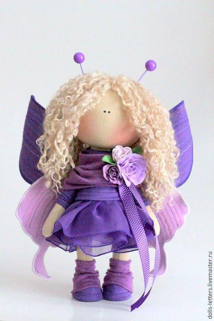 Человечки ручной работы. Текстильная кукла!. Ольга Пономарёва. Ярмарка Мастеров. Тильда, бабочки, шерсть