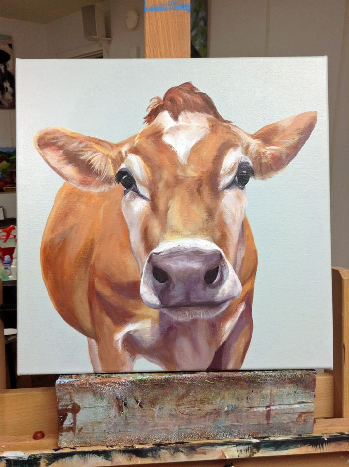 New Cow Painting   Caryn King Studio