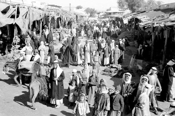 مدينة بئر السبع - فلسطين عام 1930م  The City of Beersheba - Palestine in 1930