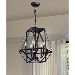 Shop for Joshua 5-light Multi-angular Antique Black Iron Chandelier. Get free shipping at Overstock.com - Your Online Home Decor Outlet Store! Get 5% in rewards with Club O! - 17762684