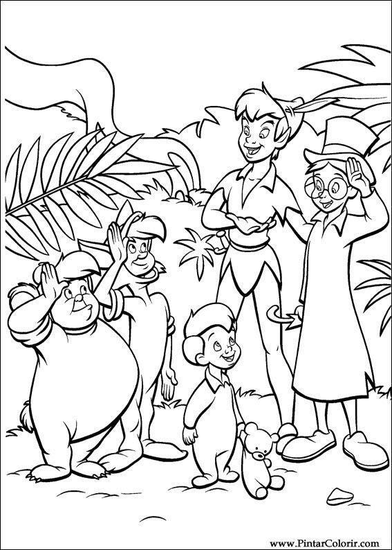 Dessins de peindre & Couleur Peter Pan - Imprimer Conception 043