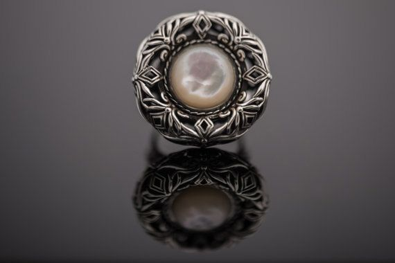 Handmade Sterling Silver 925 Ring Byzantine by ExclusiveSilverArt