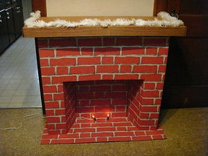 61 best vintage cardboard fireplaces images on pinterest cardboard vintage miles kimbell christmas cardboard fireplace complete in box ebay solutioingenieria Image collections