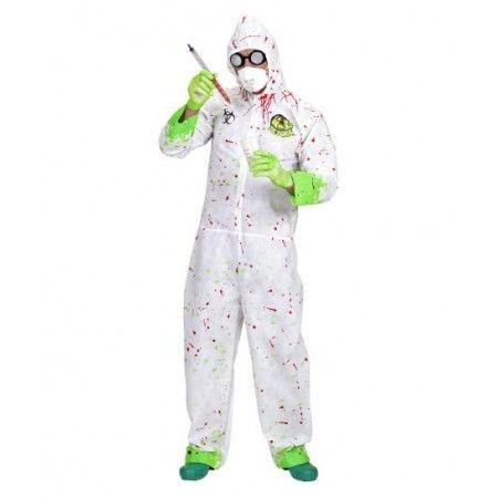 Disfraz de Quimico loco - Biohazard -  Incluye: Disfraz con capucha y guantes de latex  Composición: Friselina  http://www.disfracessimon.com/disfraces-adultos/2487-disfraz-quimico-loco-biohazard-p-2487.html