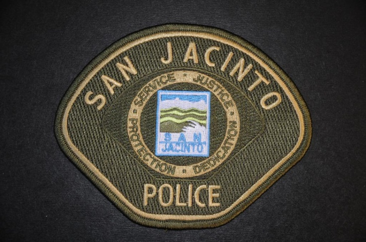 San Jacinto Police Patch, Riverside County Sheriff Contract Agency, Riverside County, California (Current 2004 Issue)