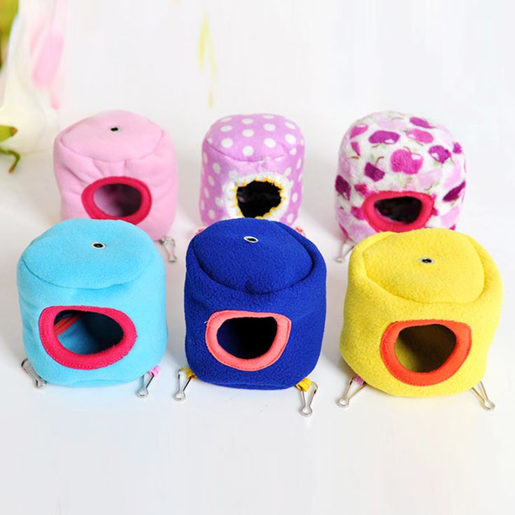 Cute Mini Pet Hamster House Bed Cage Hedgehog Hanging Sleeping Hammock Small Mice Rat Mouse Small Animal Bird Hamster Cages Nest