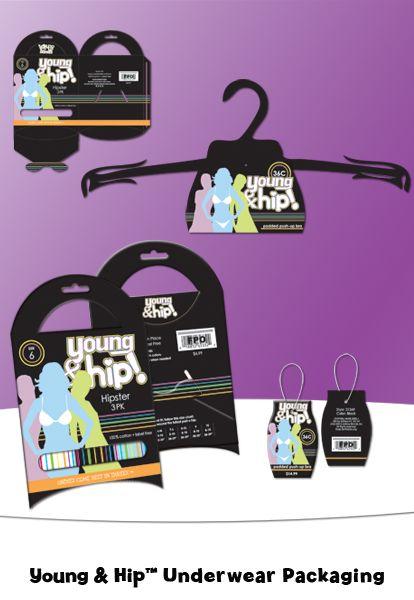Young & Hip Underwear Packaging by Randi Lynn Sunshine, via Behance