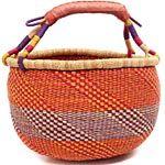 African Market Basket - Ghana Bolga - 15 Inches Across - #GB01L