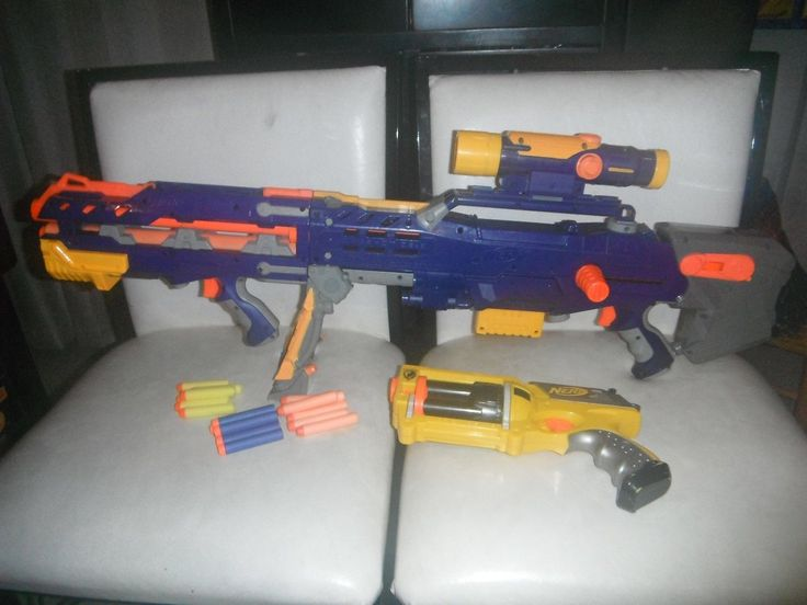 NERF MAVERICK BLUE LONGSHOT CS 6 SCOPE N-STRIKE SNIPER DART GUN BLASTER SET
