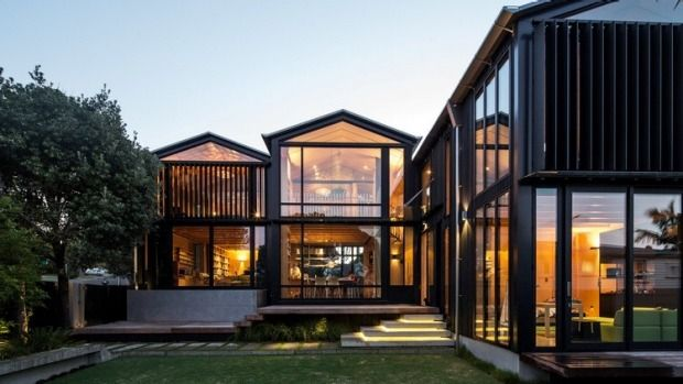 From timber on the inside to black everywhere, here's the hottest looks in contemporary architecture this year.