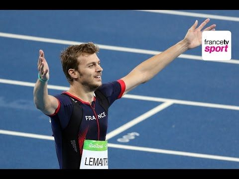 Rio2016 : revivez la finale du 200m avec Lemaitre en bronze et Bolt en or - YouTube