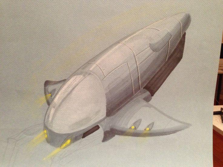 Dynamic rendering of a spaceship