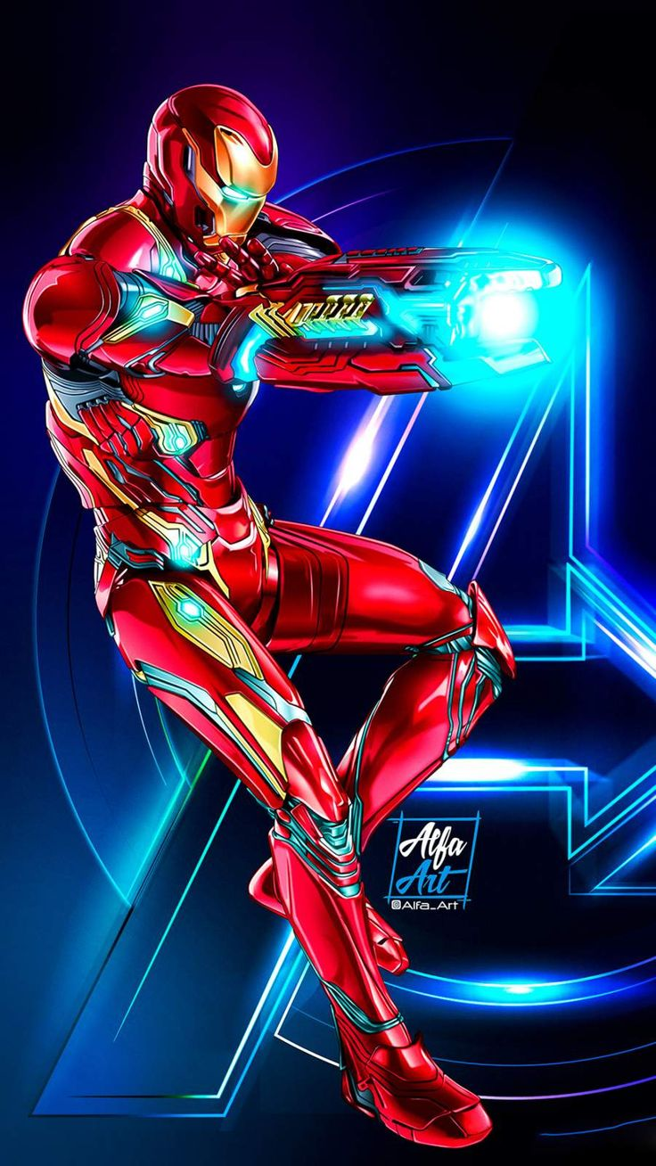 The Iron Man Art Shoot IPhone Wallpaper (With images