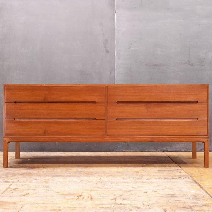 Iversen Mid-Century Danish Modern Teak Long Dresser Bureau 2 Would like better in a darker wood