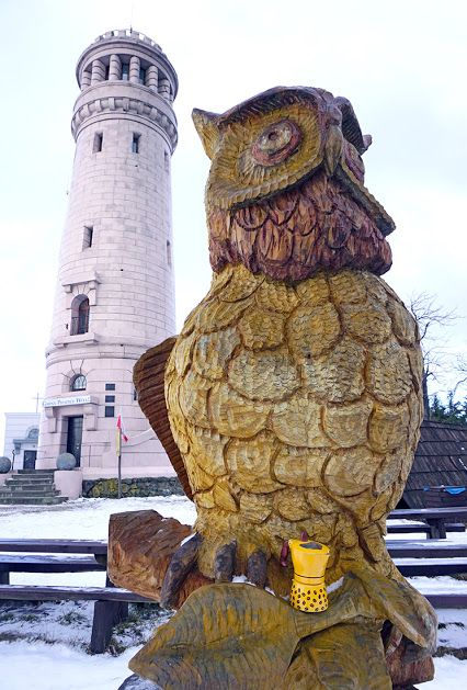 I'm in  #embrace  of a big #owl  Nice #tower  around. #frontend