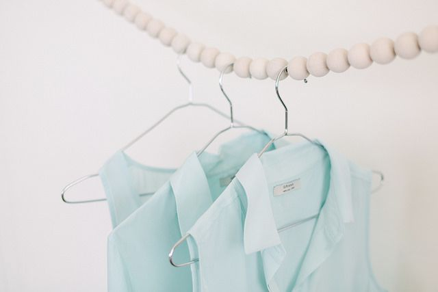 DIY Wooden Bead Clothing Rack