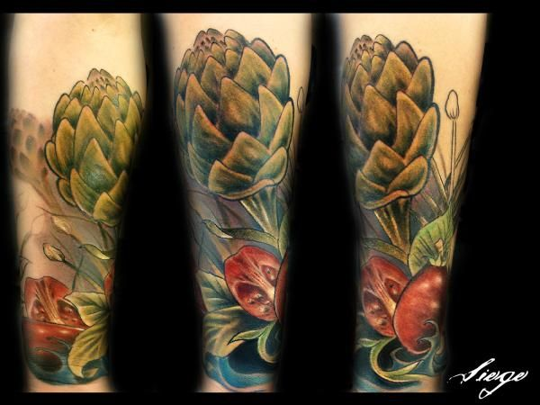bright colorful tattoos