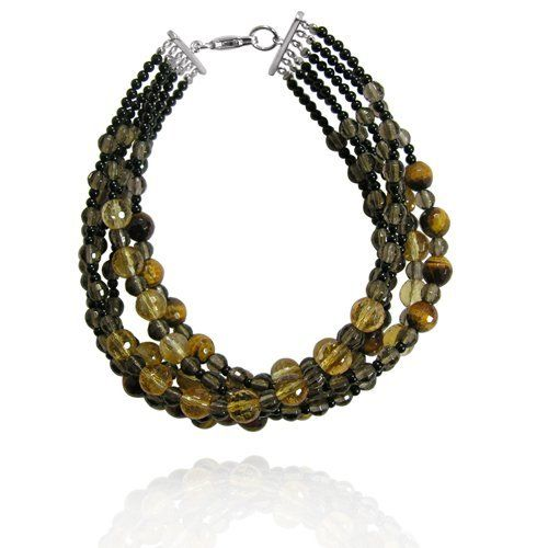"Tiger Eye Round-Shaped 6mm with Multi Gemstone Beads Layer Bracelet, 8"" Amazon Curated Collection. $49.00. Made in China. The natural properties and composition of mined gemstones define the unique beauty of each piece. The image may show slight differences to the actual stone in color and texture"