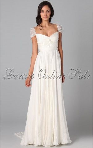 26 best Classic Ball Gown Ankle-length Turtle-neck White Chiffon ...