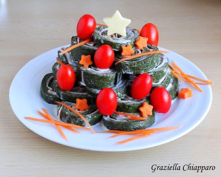Girelle di frittata con verdura al forno   Idee per pranzo di Natale