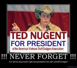 Ted Nugent, Draft Dodger