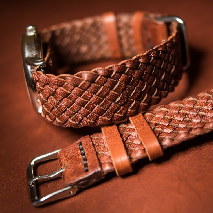 finishing touches on some handmade kangaroo leather watchbands I made recently