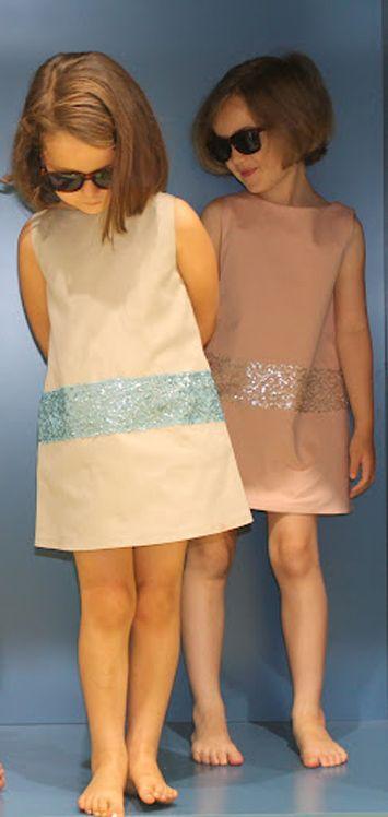 Ideal para ceremonia las prendas de siluetas acampanadas con aplicaciones de lentejuelas. Si quieres ver más prendas de ceremonia descubrelas en www.yosolito.es ピンもと: yosolito.es