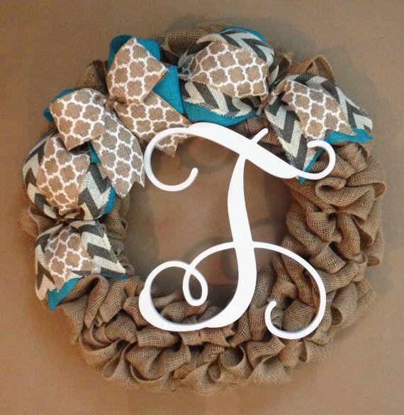 Spring wreath burlap wreath summer wreath personalized