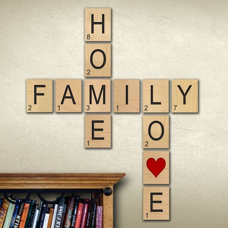 Scrabble Letters Wall Decoration : Ideas about scrabble wall art on