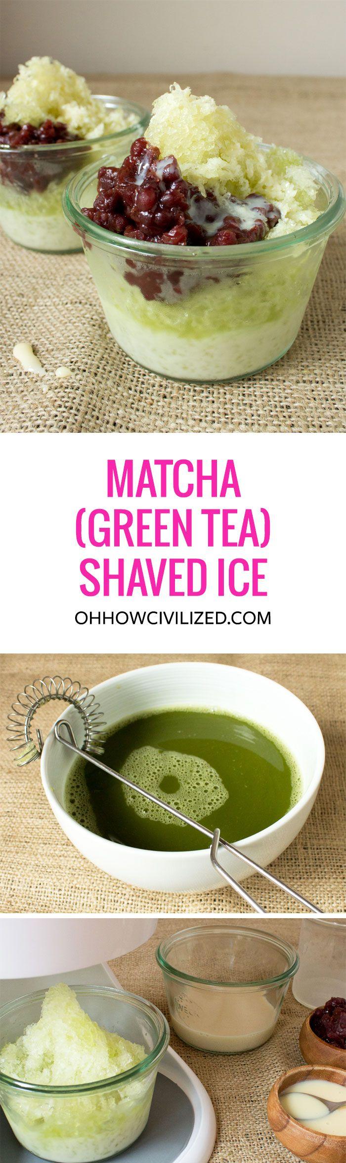Matcha (Green Tea) Shaved Ice