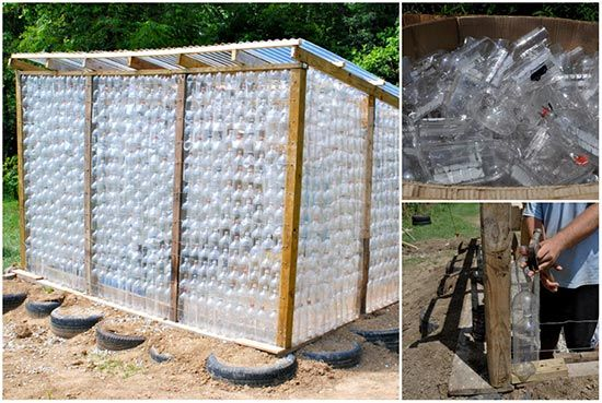 Build A Green House From Plastic Bottles
