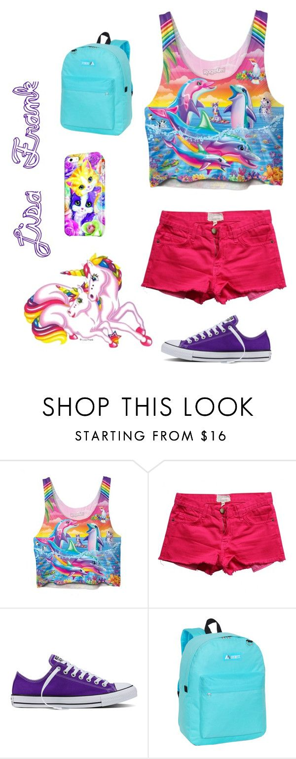"""Lisa Frank Inspired Look!"" by designer01kitty on Polyvore featuring Current/Elliott, Converse, Paul Frank, Everest, throwback, goodolddays and lisafrank"