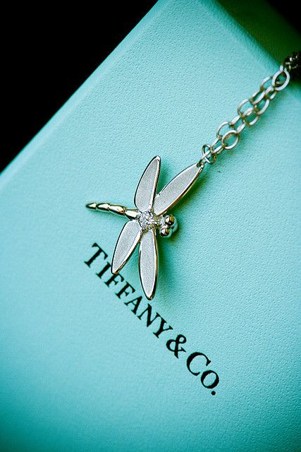 Platinum with Diamonds Dragonfly hanging by a chain for the Modern Gladiator  Tiffany & Co. #Tiffany&Co