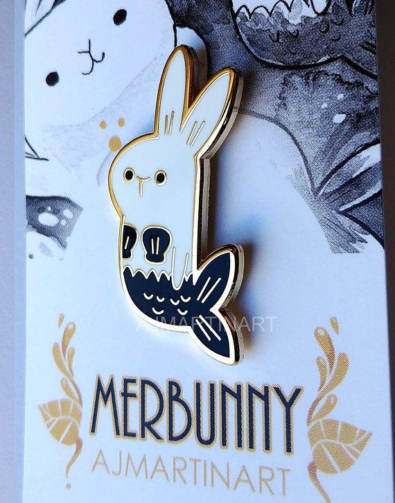 Pre-Order 1.5 Inch Merbunny Hard Enamel Pin