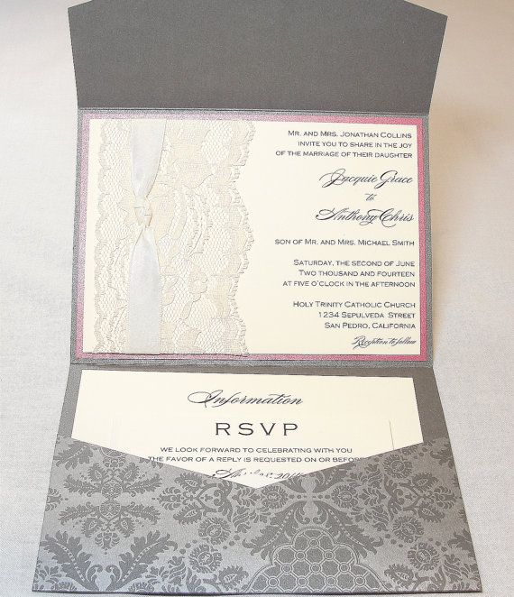 17 Best images about invitations scrapbooking – Scrapbooking Wedding Invitation Ideas
