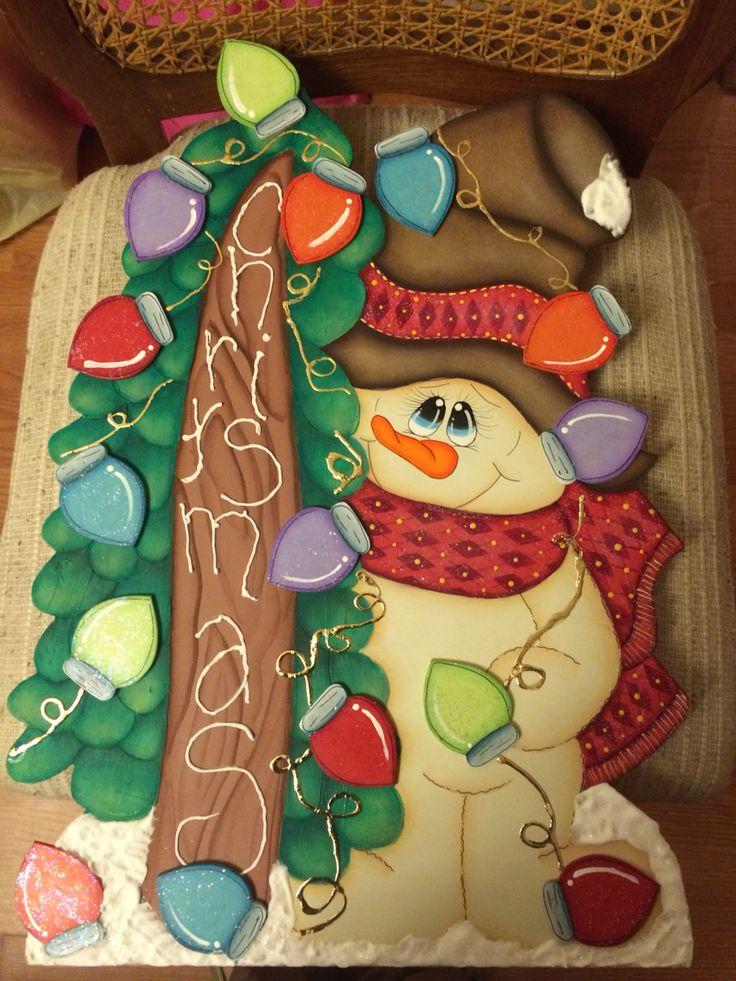 Estaca navideña Muñeco de Nieve