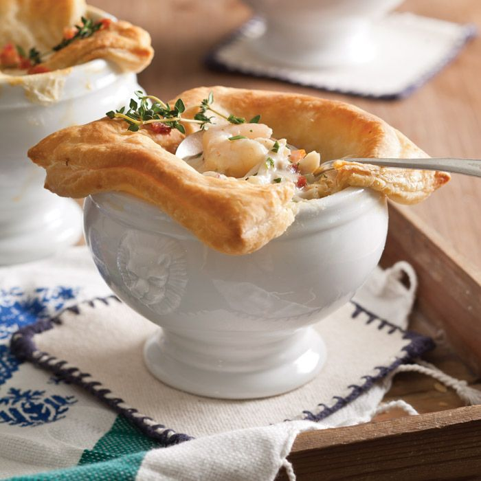 Try these easy and elegant Seafood Pot Pies for a comforting winter meal.