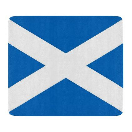 #Small glass cutting board with flag of Scotland - #trendy #gifts #template