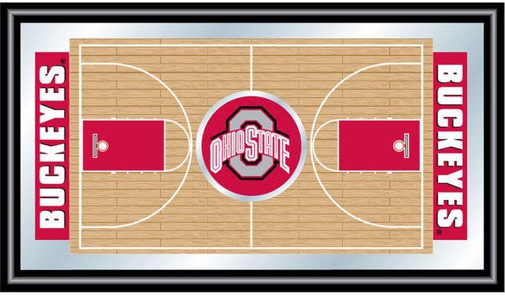 NCAA Ohio State Buckeyes Framed Basketball Court Wall Art