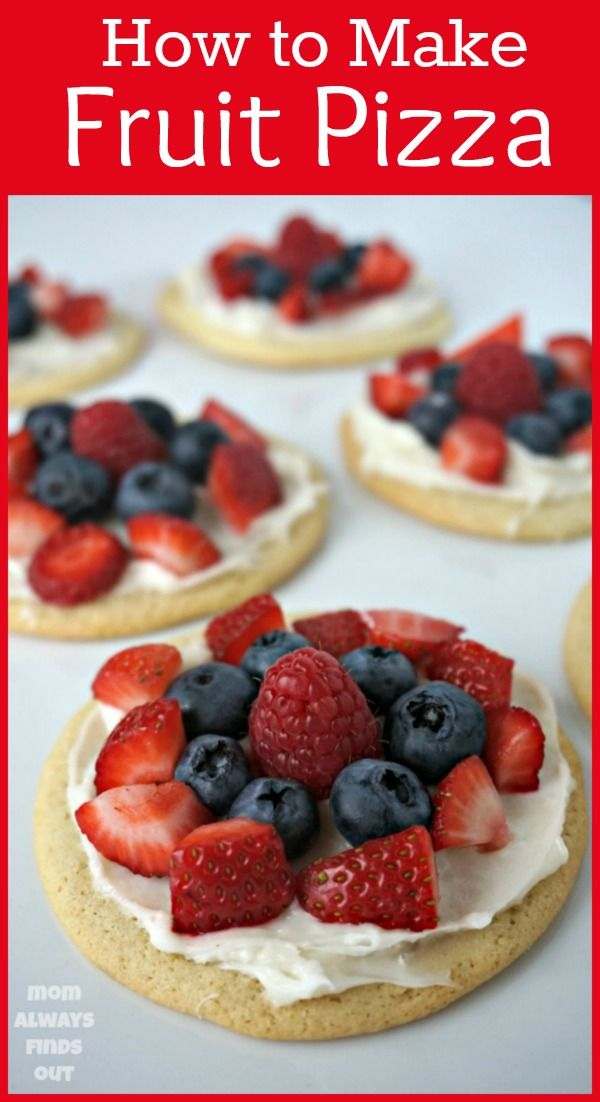 How to make Berry Fruit Pizza Minis