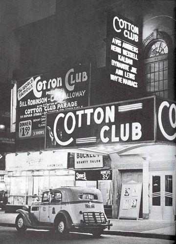 "The Cotton Club was a famous night club in New York City that operated during Prohibition. While the club featured many of the greatest African American entertainers of the era, such as Duke Ellington, Count Basie, Bessie Smith, Cab Calloway, The Nicholas Brothers, Ella Fitzgerald, Louis Armstrong, Nat King Cole, Billie Holiday, and Ethel Waters, it generally denied admission to blacks. During its heyday, it served as a chic meeting spot in the heart of Harlem, featuring regular ""Celebrity…"