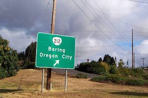 silly names: Boring in Oregon, USA