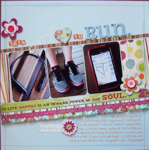 Love this layout! Found on the Creating Keepsakes blog (This Girl Loves to Run by Steffanie Seiler)