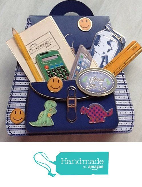 Small 3D school bag from Susans Handcrafted Cards and Gifts https://www.amazon.co.uk/dp/B01L6QKN0S/ref=hnd_sw_r_pi_dp_Wqo.xbVD8P458 #handmadeatamazon