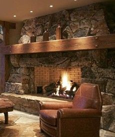 Rustic mantel ideas for our basement