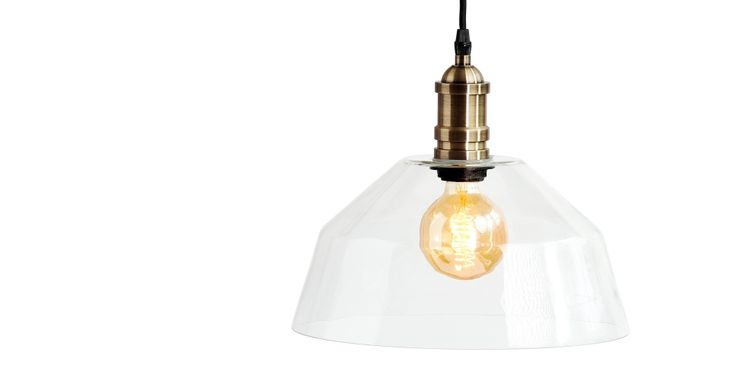 Starkey Glass Pendant, Brass | made.com
